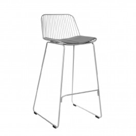 Niskie krzesło barowe z metalu Dill Low