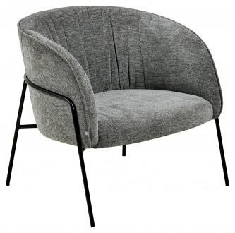 Wygodny fotel tapicerowany Scandia 200 Antracyt