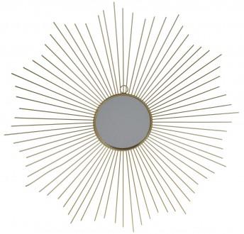 Złote lustro dekoracyjne na ścianę Ethan