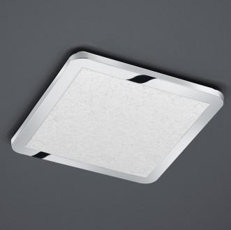 Chromowany plafon sufitowy LED kwadratowy Cesar 30