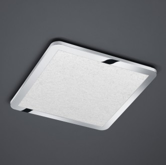 Chromowany plafon sufitowy LED kwadratowy Cesar 40