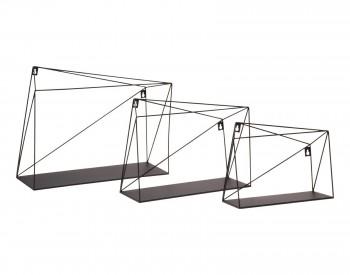 Zestaw trzech półek ściennych w stylu loft Links