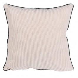 Sztruksowa poduszka dekoracyjna z lamówką Mia