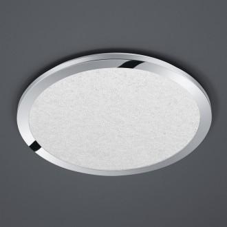 Chromowany plafon sufitowy LED okrągły Cesar 40