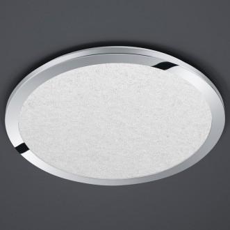 Chromowany plafon sufitowy LED okrągły Cesar 60