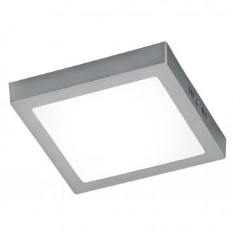 Duży plafon kwadratowy LED Zeus 22 nikiel mat