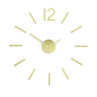 Naklejany zegar ścienny Blink złoty