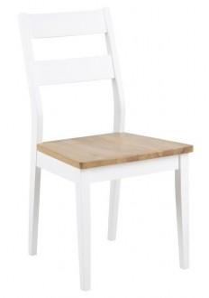 Drewniane krzesło z wysokim oparciem Derry