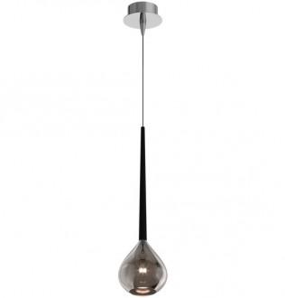 Pojedyncza lampa wisząca ze srebrnym kloszem Libra