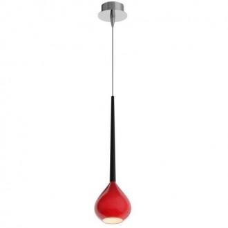 Pojedyncza lampa wisząca z czerwonym kloszem Libra