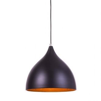 Wisząca lampa w stylu loft Marco ze złotym kloszem