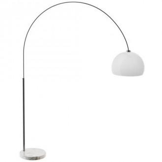 Stojąca lampa łukowa z białym kloszem Vision