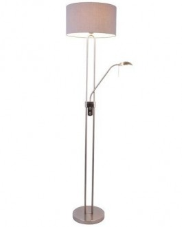 Klasyczna lampa podłogowa z dwoma kloszami Pedro