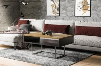 Ława kawowa do salonu z półką Enna