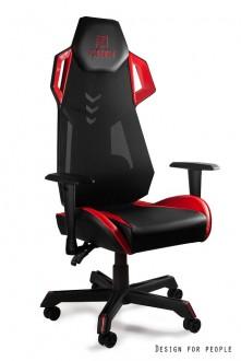 Designerski fotel dla graczy z wysokim oparciem Dynamiq V11