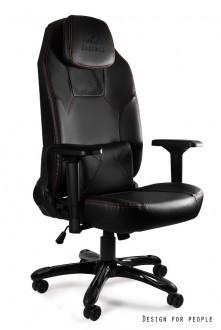 Designerski fotel gamingowy Dynamiq V9 z głośnikiem i oświetleniem LED