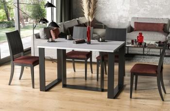 Rozkładany stół do jadalni z czarną podstawą Borys 210