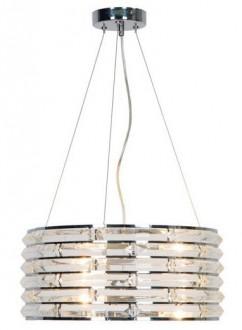 Duża lampa wisząca z okrągłym kloszem Coro z kryształkami