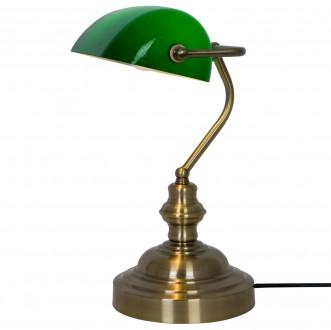 Lampka biurkowa z zielonym kloszem Edes