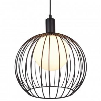 Loftowa lampa wisząca z kulistym kloszem drucianym Tacna
