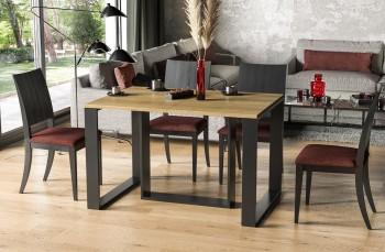 Rozkładany stół do jadalni z czarną podstawą Borys 330