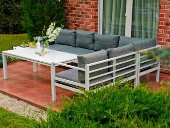 Narożnik do ogrodu ze stolikiem Alluminio Grande