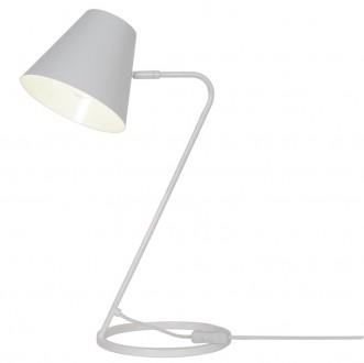 Metalowa lampka biurkowa w kolorze białym Expir
