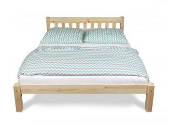 Sosnowe łóżko do sypialni na nogach Pino