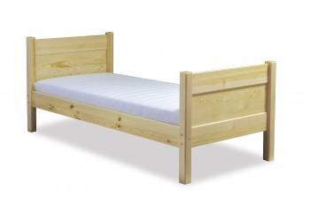 Drewniane łóżko z zagłówkiem i przednóżkiem Classic