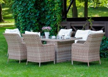 Zestaw mebli stołowych do ogrodu Goccia
