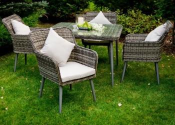 Komplet stołowych mebli ogrodowych Basso