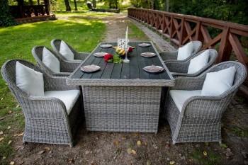 Zestaw stołowych mebli ogrodowych Vero
