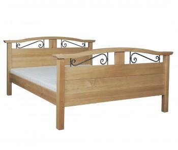 Stylowe łóżko na nogach do sypialni Korfu