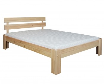 Wysokie łóżko do sypialni z drewna Largo