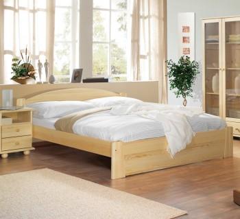 Łóżko z drewna sosnowego z wezgłowiem Miki