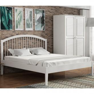 Prowansalskie białe łóżko na nogach Paris