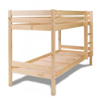 Drewniane łóżko piętrowe Leon