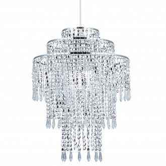Wisząca lampa z tworzywa sztucznego Treve w formie łańcuszków