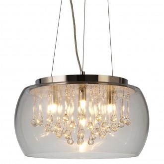 Wisząca lampa Luce ze szklanym kloszem i kryształami