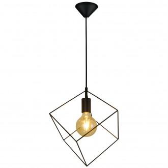 Druciana lampa wisząca w kształcie sześcianu Cube