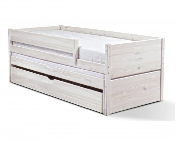 Drewniane łóżko dziecięce z dodatkowym spaniem Delfin