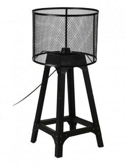 Niska lampa stojąca z drucianym kloszem Jalen