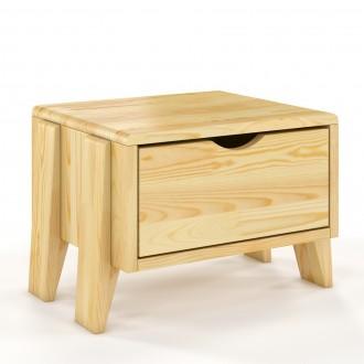 Skandynawska szafka nocna z drewna sosnowego Sopot