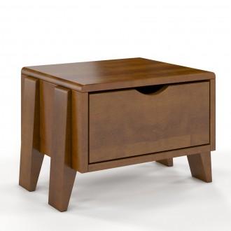 Skandynawska szafka nocna z drewna bukowego Sopot
