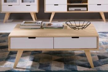 Drewniany stolik kawowy Malmo w stylu skandynawskim