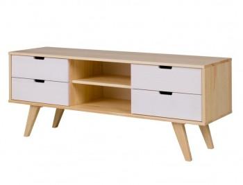 Drewniany stolik RTV Malmo w stylu skandynawskim
