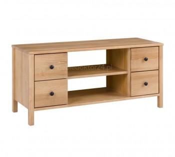 Drewniany stolik RTV 118 z szufladkami Prestige