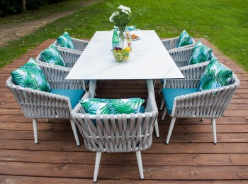 Stołowe meble ogrodowe Corda XL