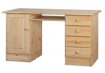 Duże biurko z drewna sosnowego z szufladkami Classic