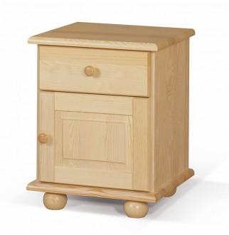 Drewniany stolik nocny na kulach Olivier